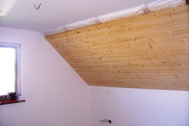 Montáž palubek na strop